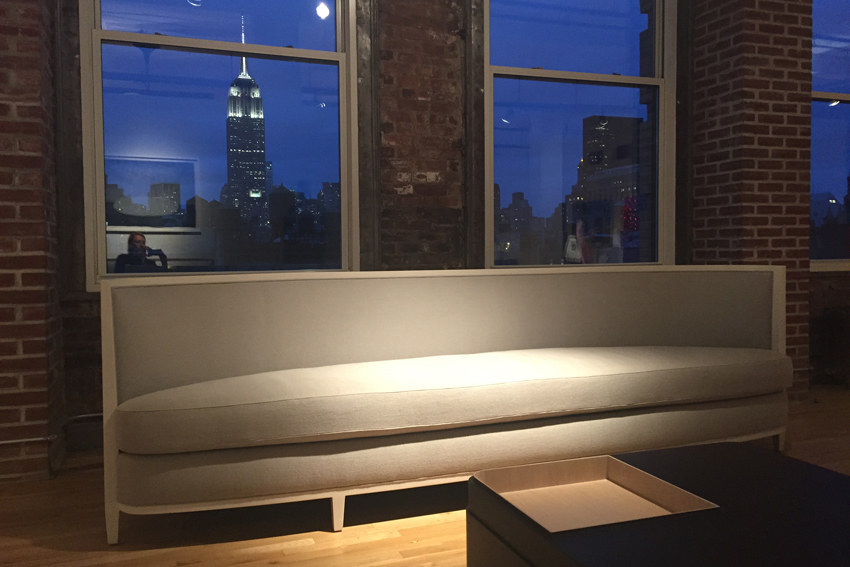 Andre Puttmann sofa at gallery Ralph Pucci