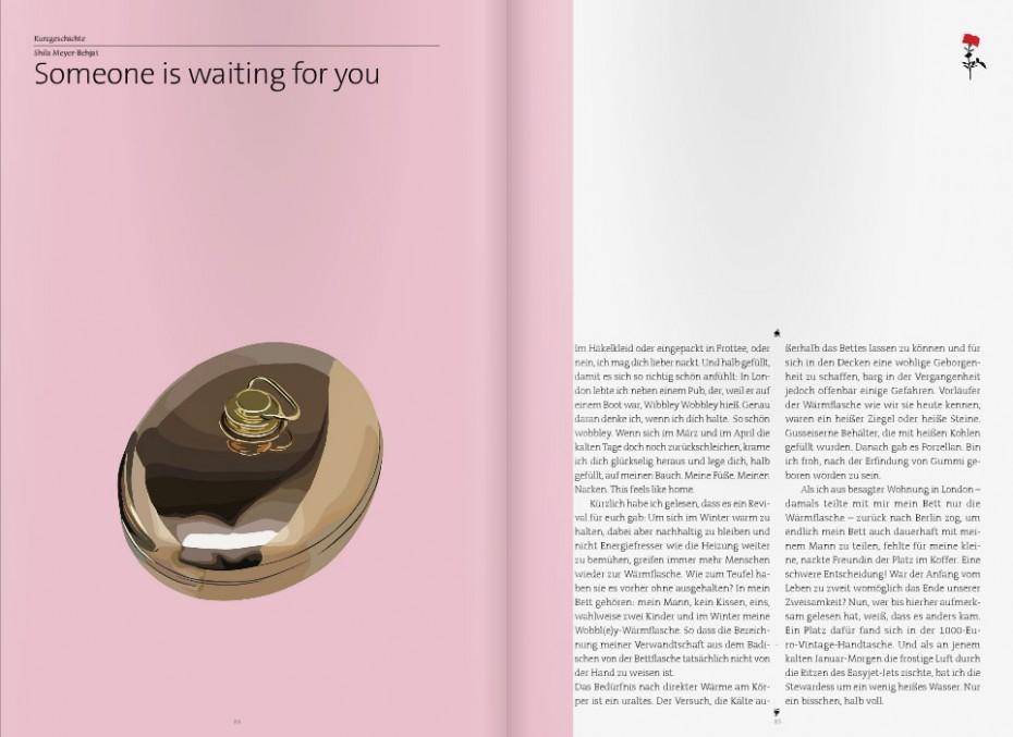 Blick ins gedruckte Rosegarden-Magazin - Wärmflasche