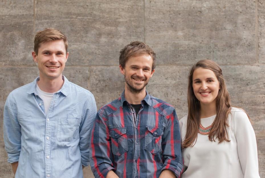 Foto: mealy Team. Tim Strehlow, Flo Feigenbutz und Jenny Boldt (von li. nach re.) Via: http://mealy-app.com/presse/.