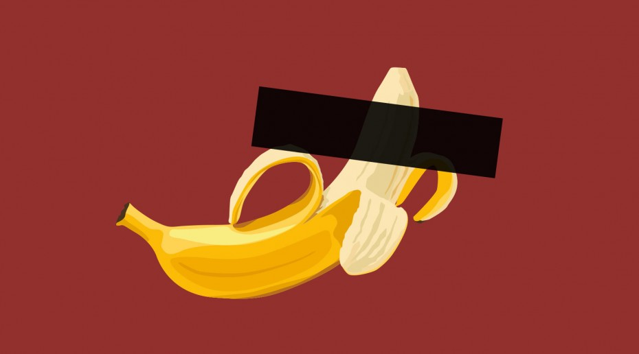 Banane zensiert, Illustration: Bertram Sturm