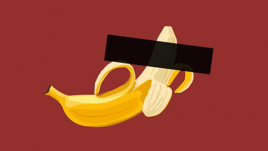 Banane zensiert, Illustration: Bertram Sturm