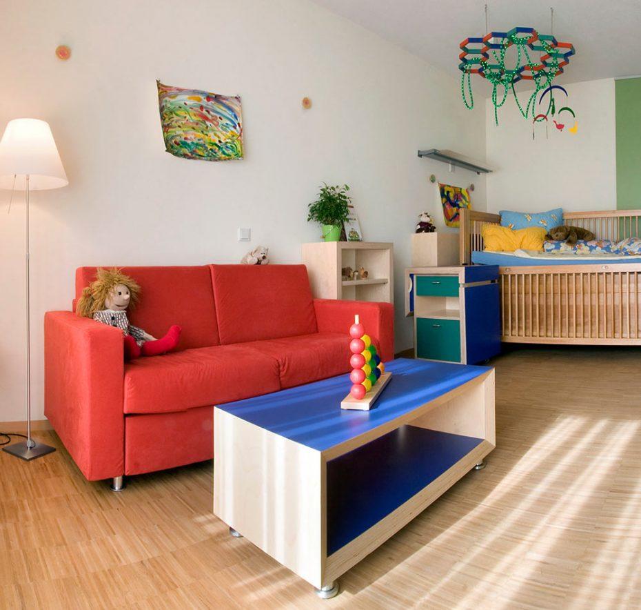 Ein Kinderzimmer im Kinderhospiz; Foto: Kinderhospiz St. Nikolaus