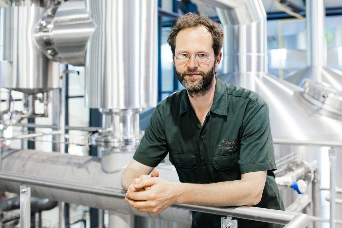 Thomas Tyrell, Brauer bei Stone Brewing Berlin; Foto: Stone Brewing